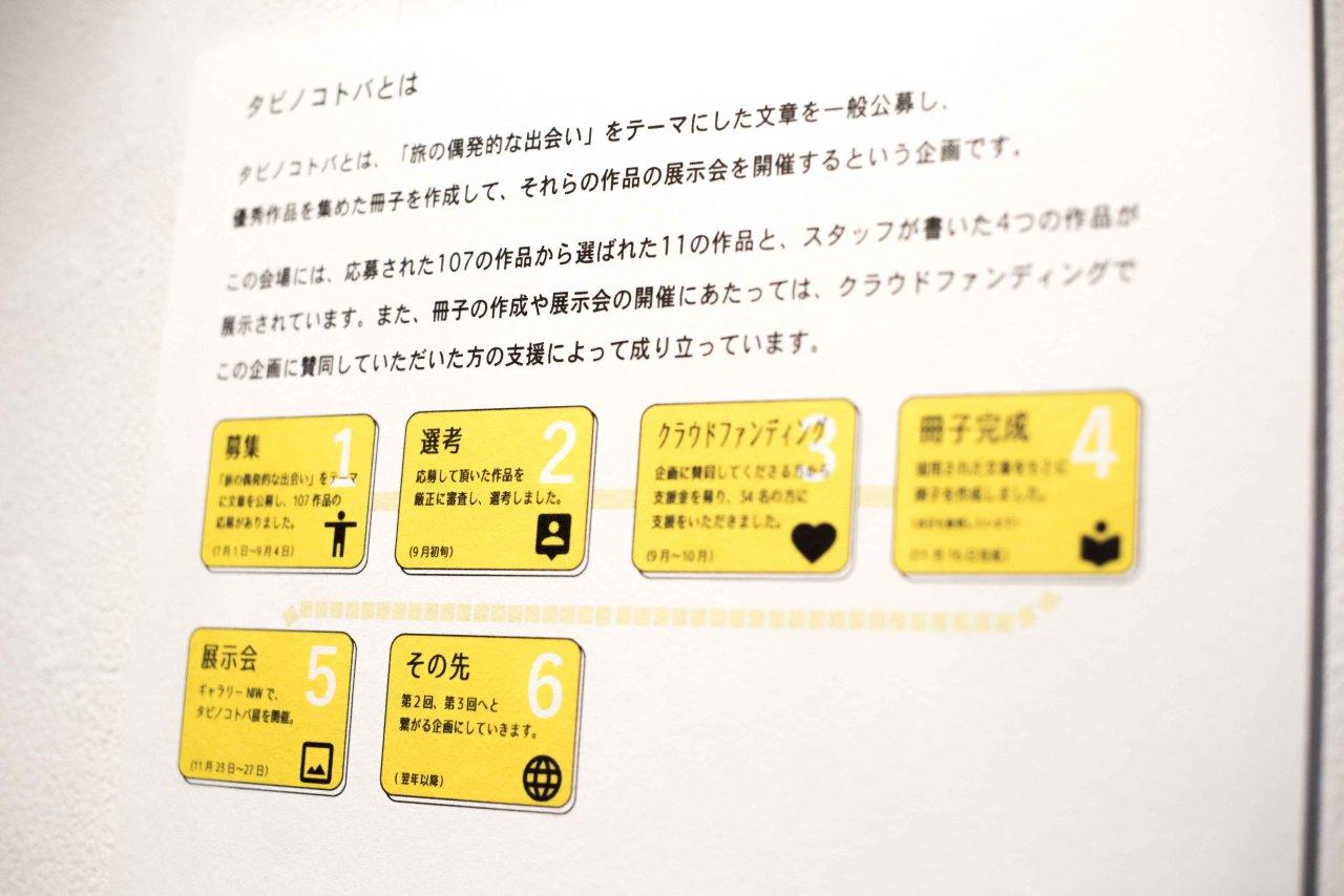 【いよいよ最終日】タビノコトバ展は本日17時までです。