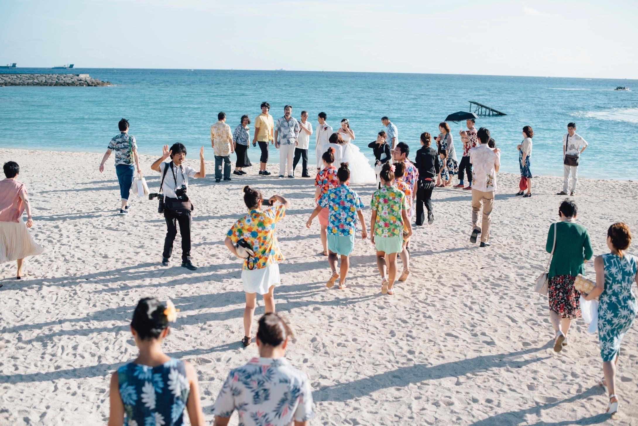 沖縄に行ったらタビノコトバメンバーが結婚式をしていた