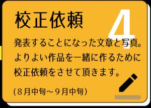 タビノコトバ採用者への校正依頼