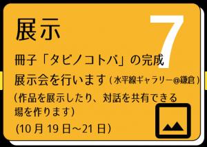 タビノコトバの展示について