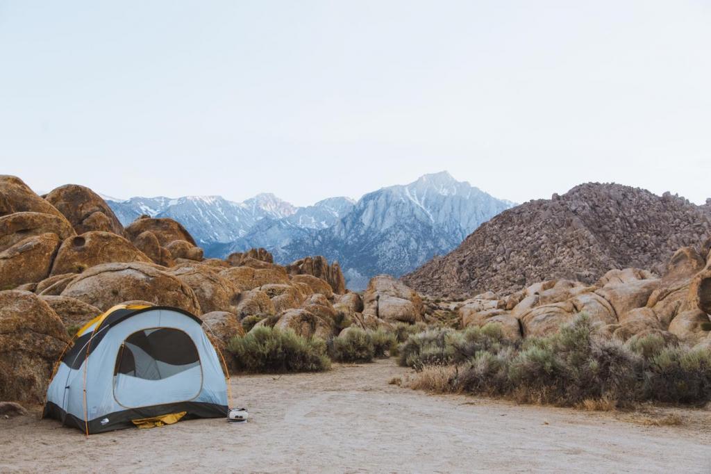 安息のテント